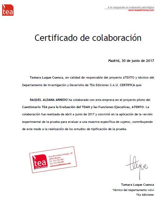 raquel aldana certificado foto