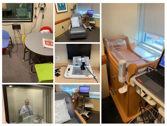 sala de exploración de bebés y audiometría tonal conductual